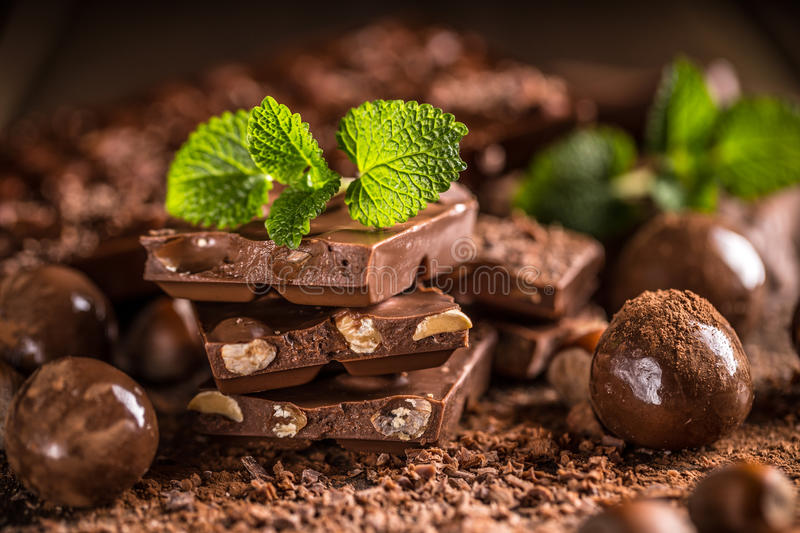 Composition of chocolate royalty free stock image