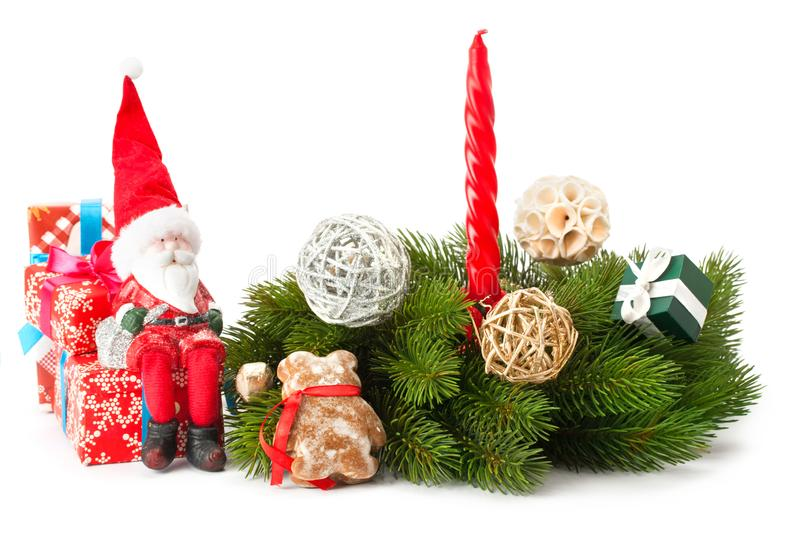 Composition of the Christmas decoration stock photos