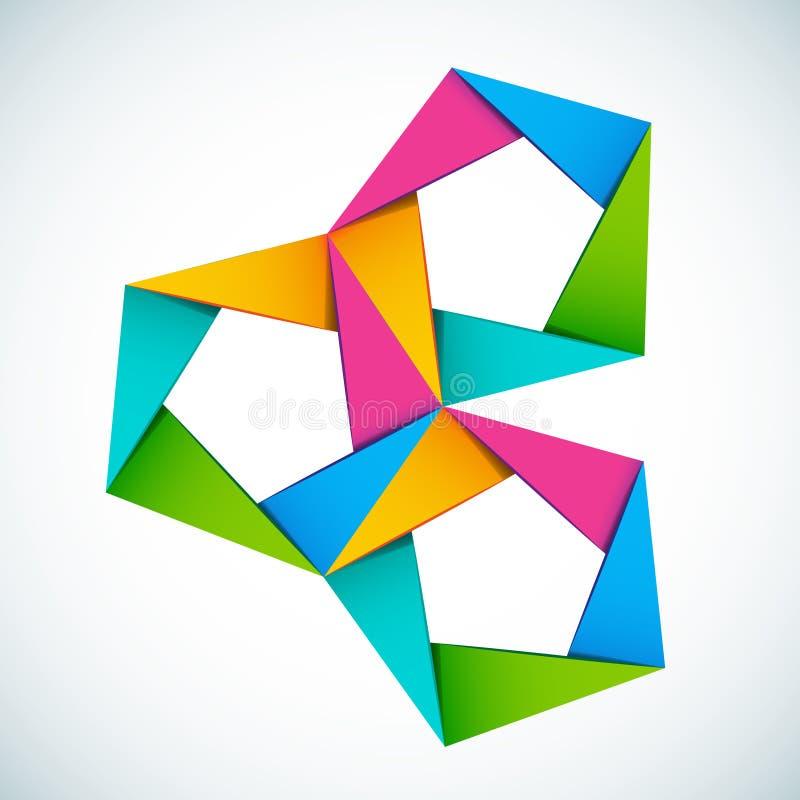 Composition colorée de formes de vecteur illustration libre de droits