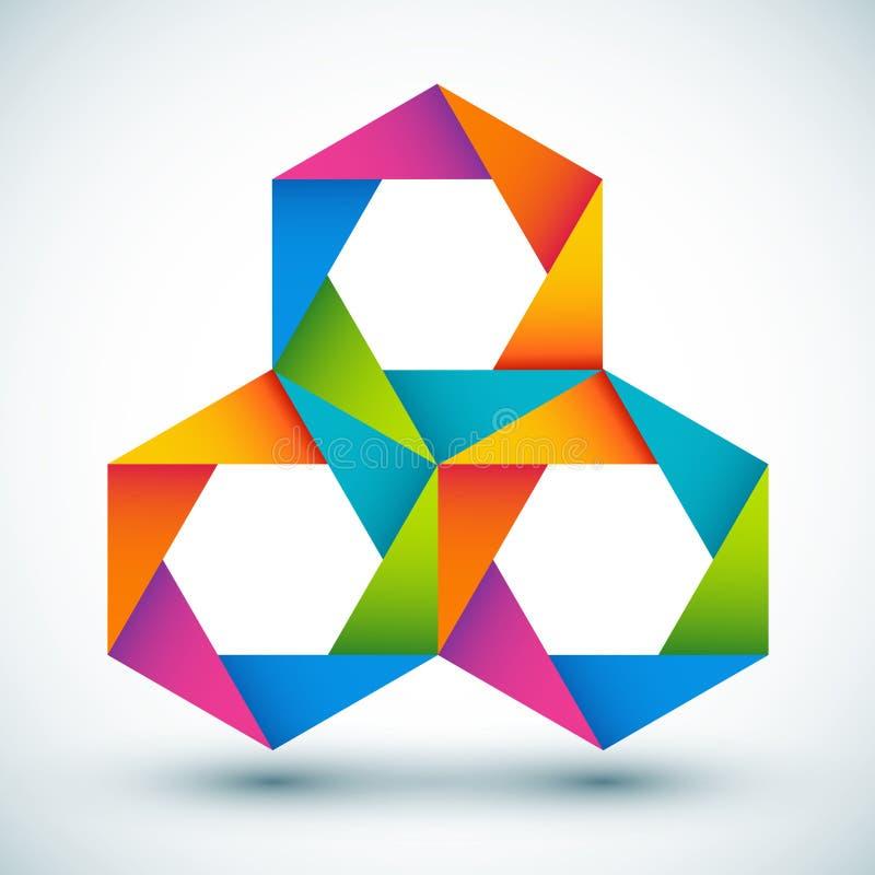 Composition colorée de formes de vecteur illustration stock