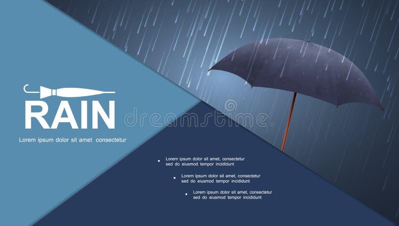 Composition colorée en tempête réaliste de l'eau illustration libre de droits