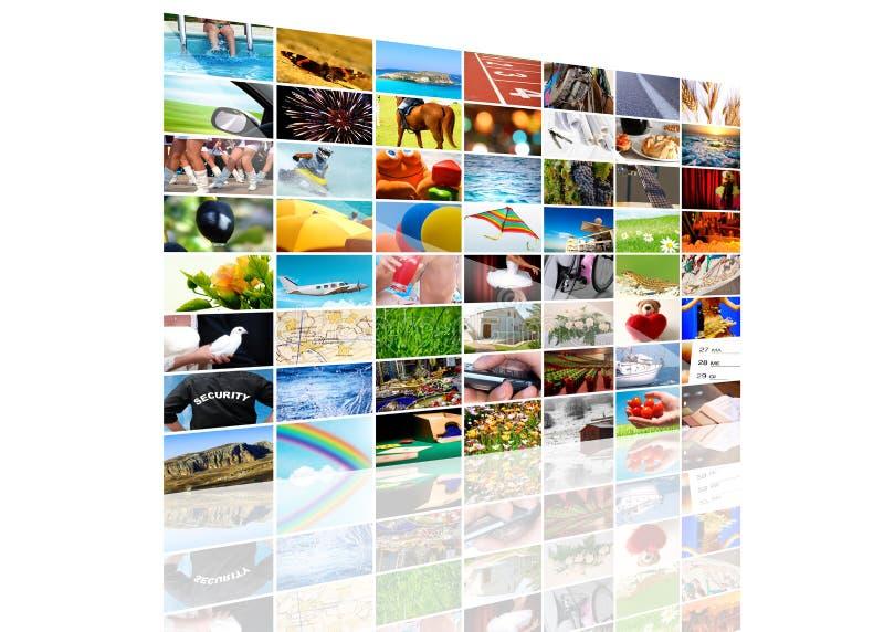 Composition d'écran de TV image stock