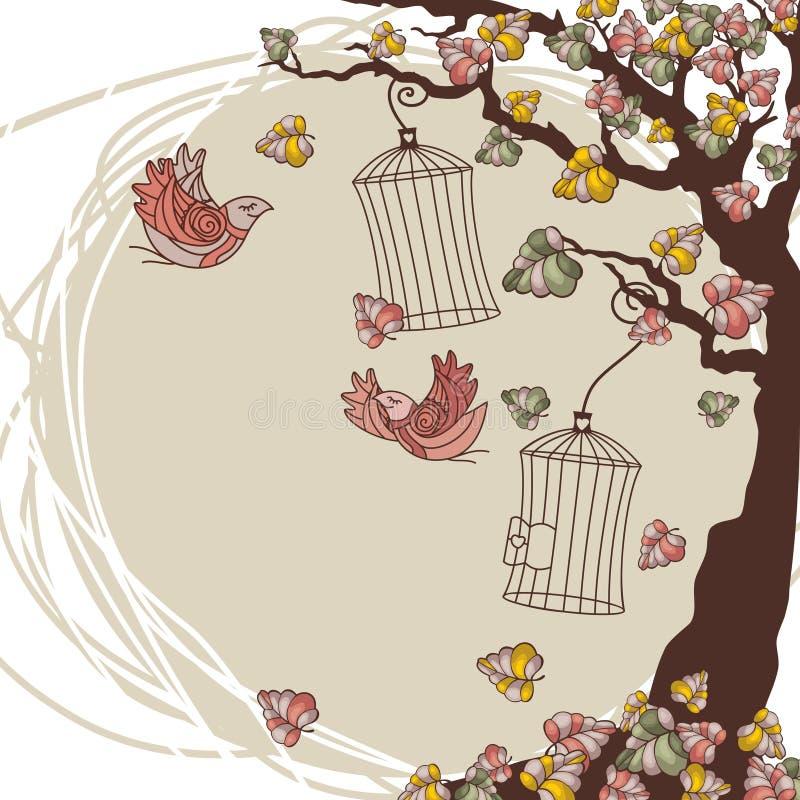 Composition d'automne de vecteur illustration libre de droits