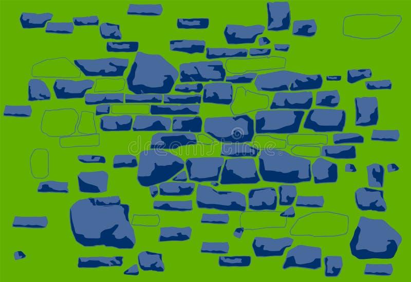 Composition de fond-un des pierres tirées par la main de différentes formes illustration libre de droits