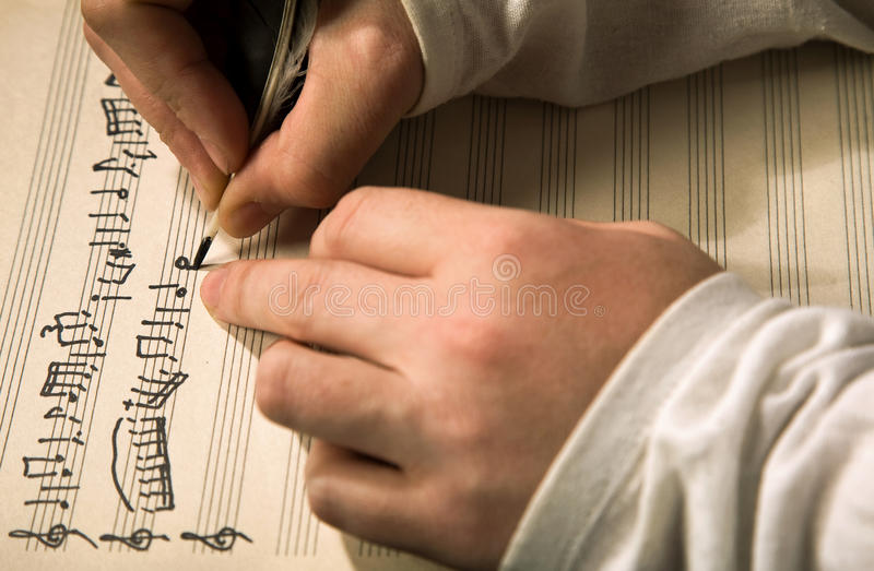 Composition de la musique image stock