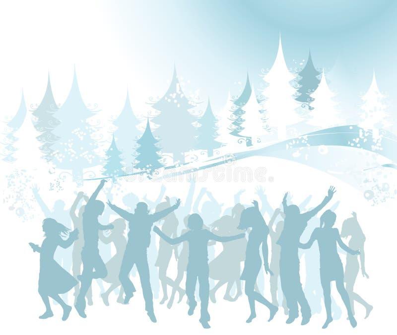 Composition de Noël illustration libre de droits