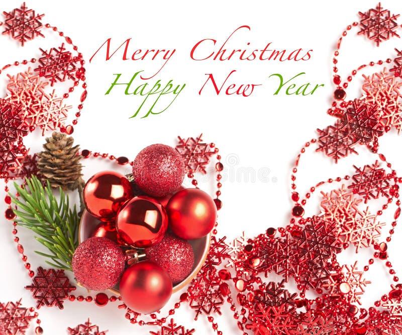 Composition de Noël avec des babioles photo stock