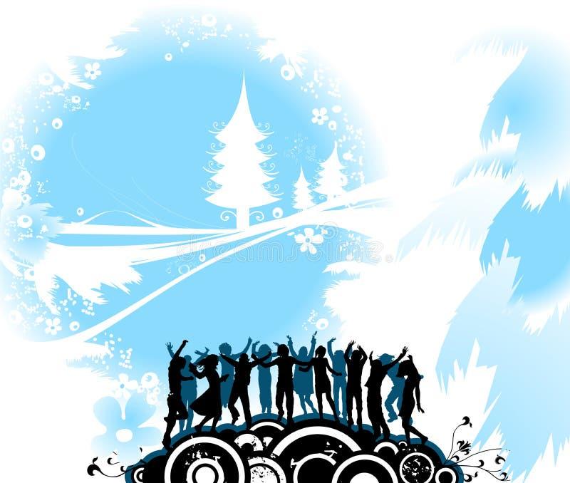 Composition de Noël avec le sil illustration libre de droits