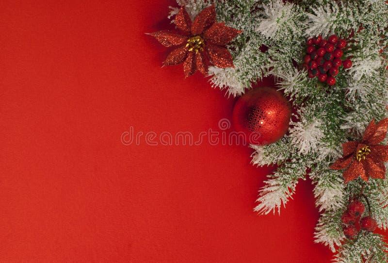 Composition de Noël pour la carte de voeux. photographie stock libre de droits