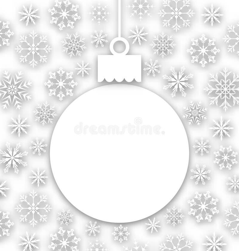 Composition de papier en Noël, carte de voeux peu commune illustration libre de droits