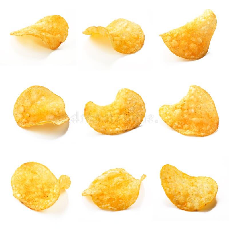Composition de pommes chips photographie stock