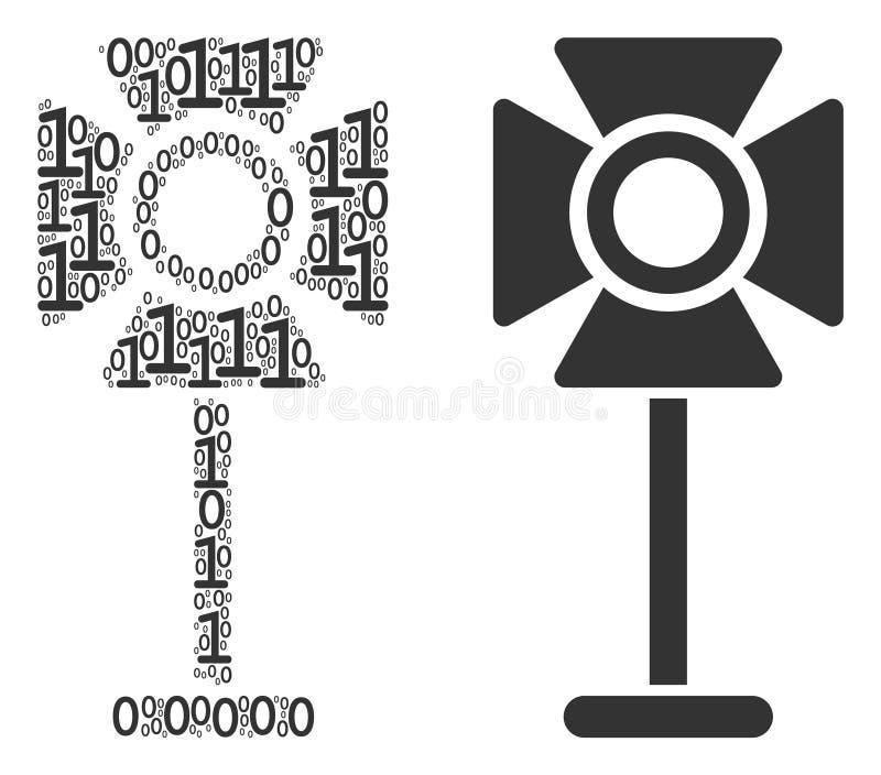 Composition de support de projecteur des éléments binaires illustration de vecteur