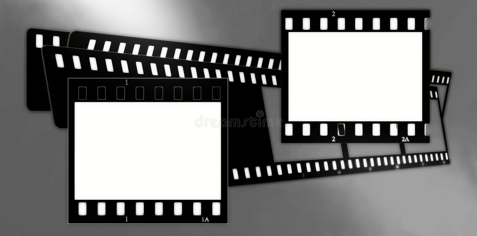 Composition de trames de film (chrome, mous) (glissières) 2 illustration stock