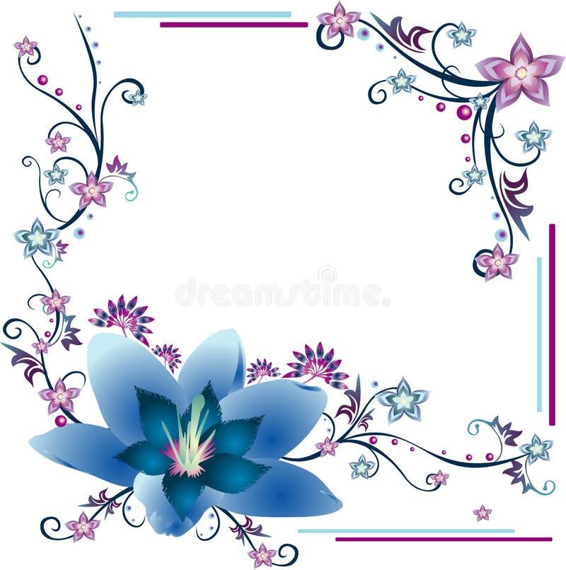 Composition de vecteur de fleurs illustration stock