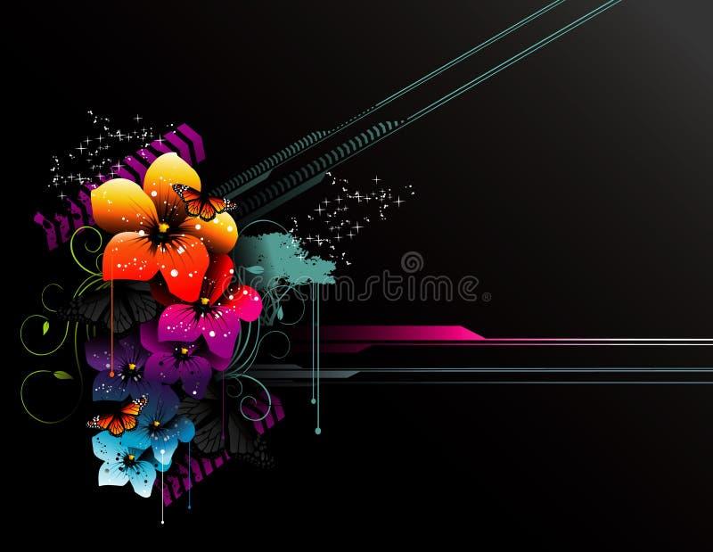 Composition de vecteur de fleurs illustration libre de droits