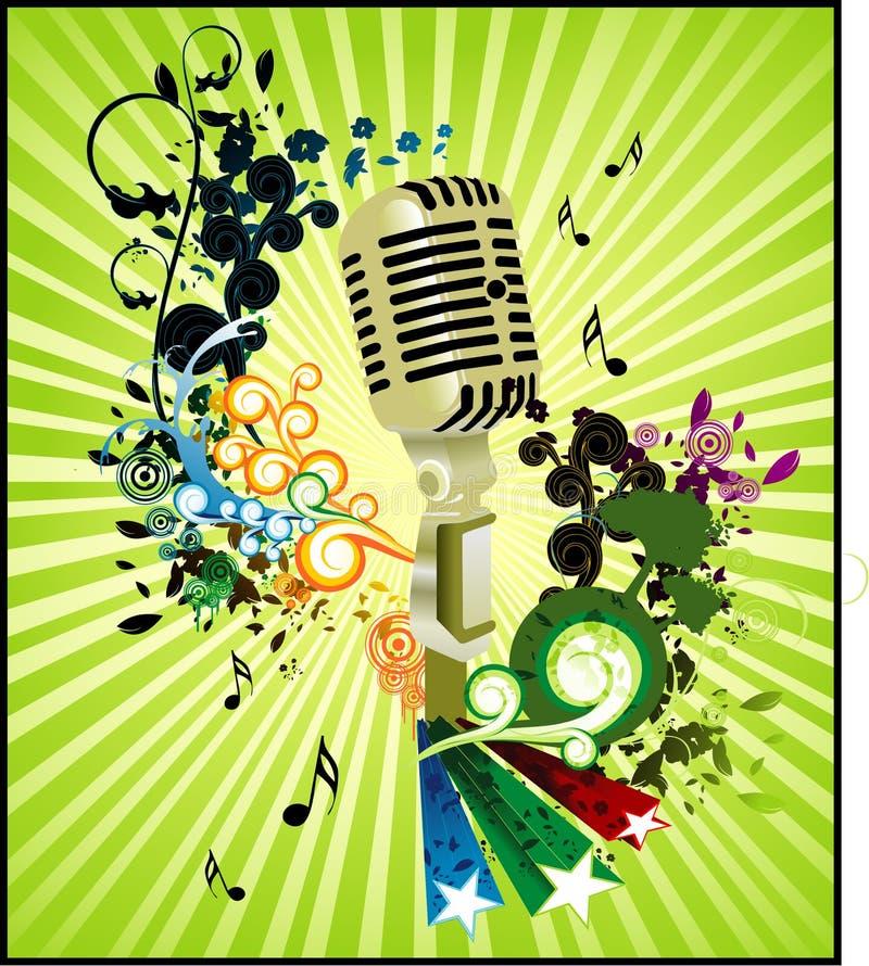Composition de vecteur de microphone illustration de vecteur