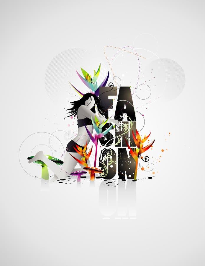 Composition de vecteur de mode illustration stock