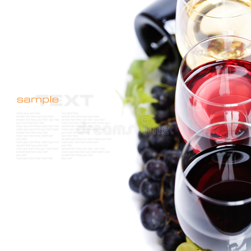 Composition de vin images stock