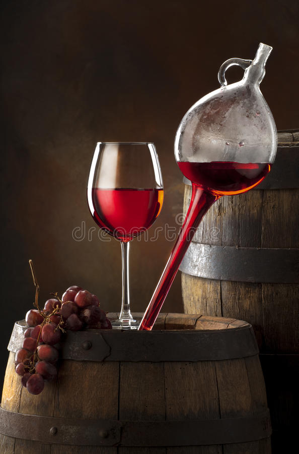 Composition de vin photo stock