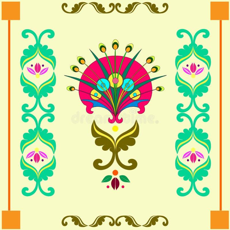 Composition of decorative dandelions royalty free illustration