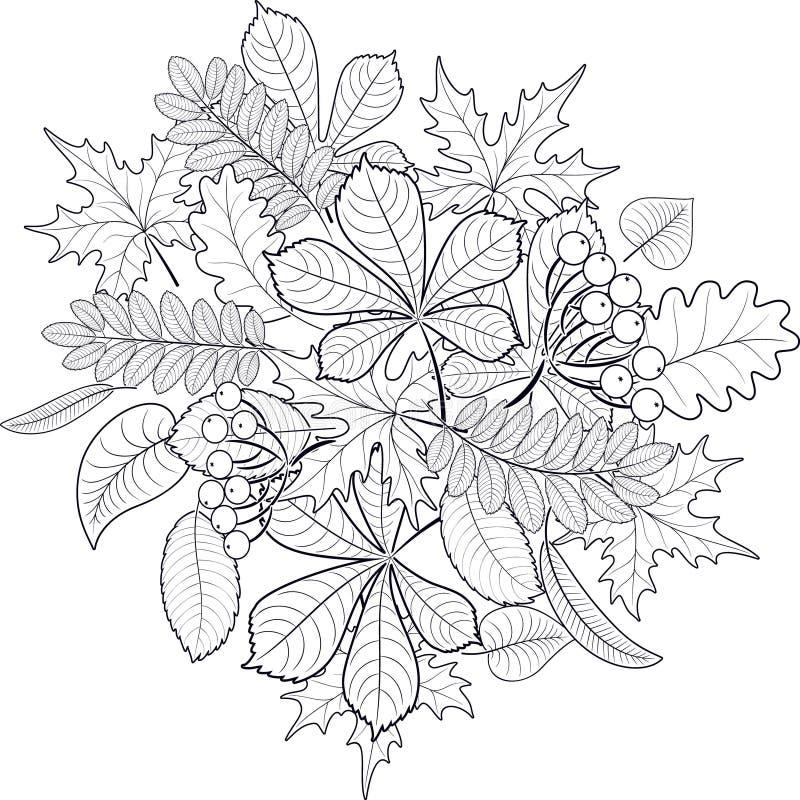 Composition des feuilles d'automne illustration de vecteur