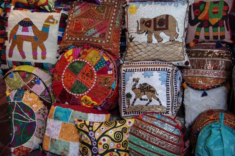 Composition des oreillers de patchwork photographie stock libre de droits