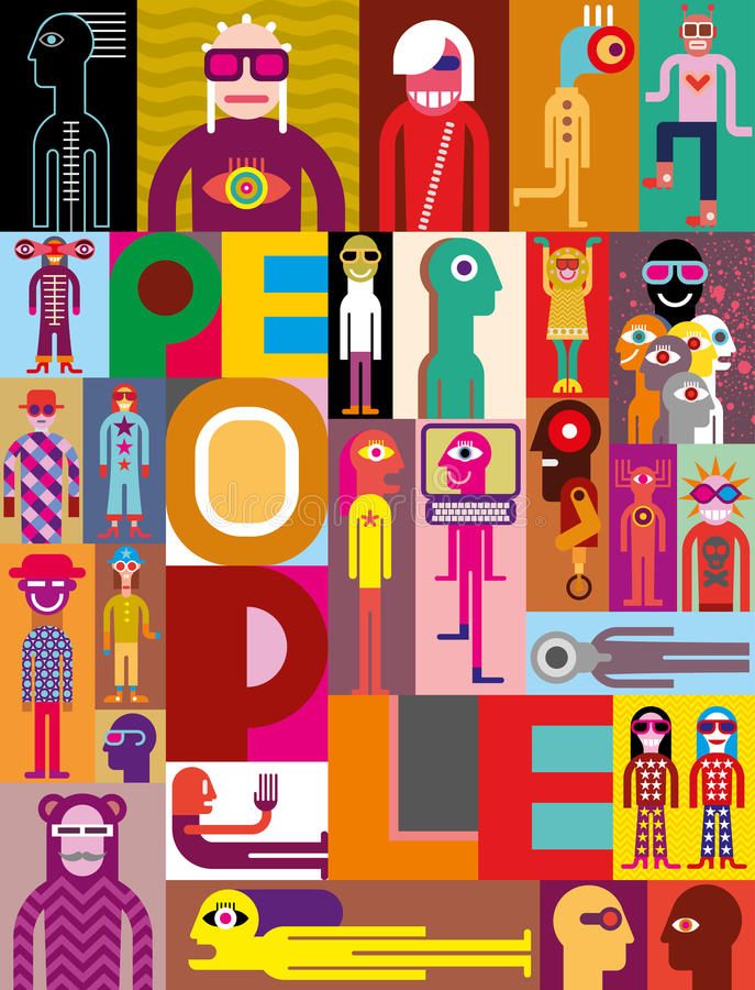 Download Composition Of Diverse People Stock Vector - Illustration: 33846687