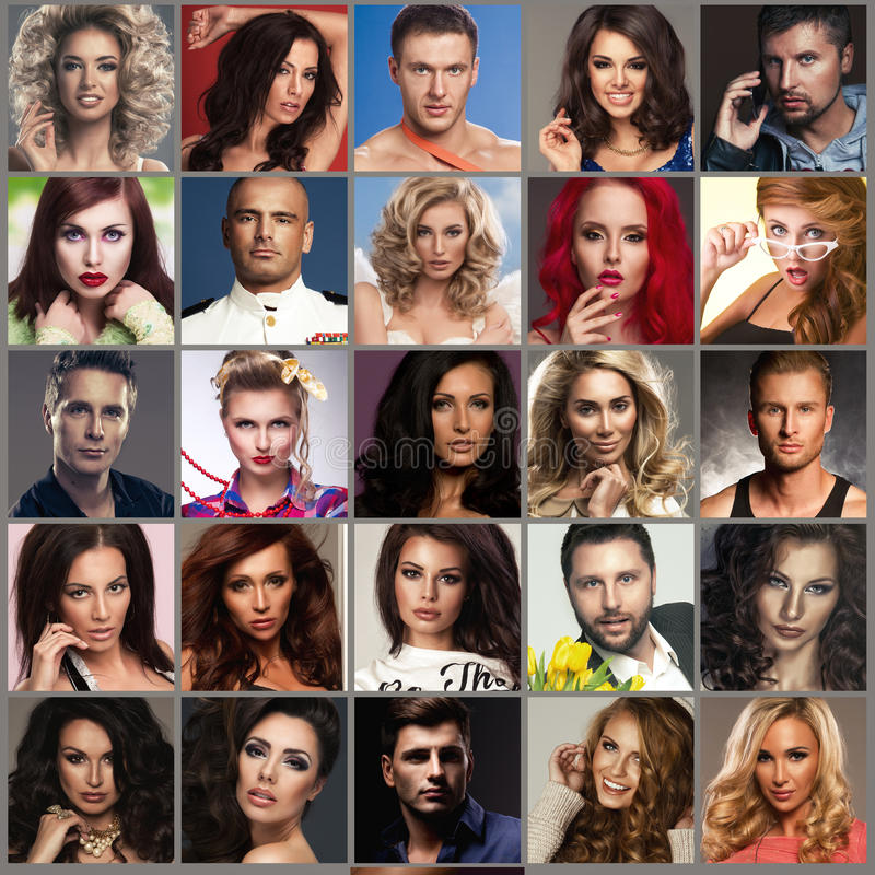 Composition of diverse people royalty free stock photos