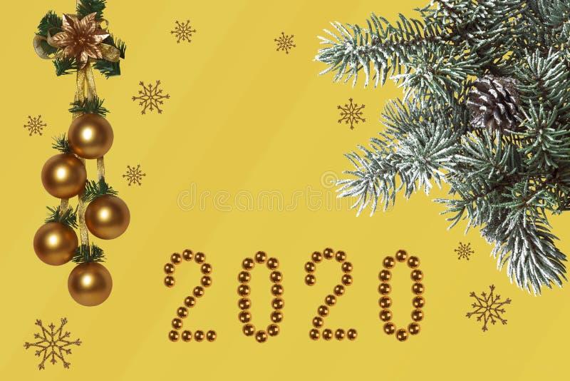 Composition du Nouvel An, félicitations pour le jour férié photos libres de droits