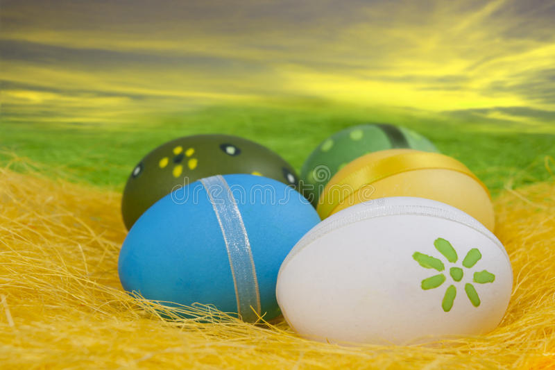 Download Composition Of Easter Eggs Stock Image - Image: 18303761