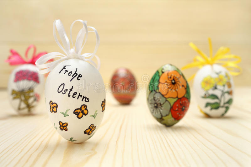 Download Composition of Easter eggs stock image. Image of painting - 39505403