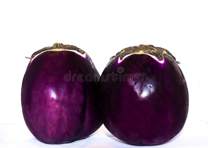 Composition with Eggplant royalty free stock photography