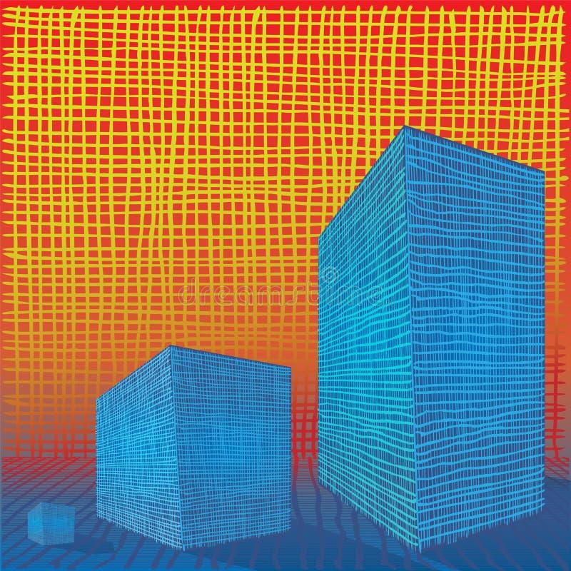 Composition en abrégé sur grille de brique illustration libre de droits