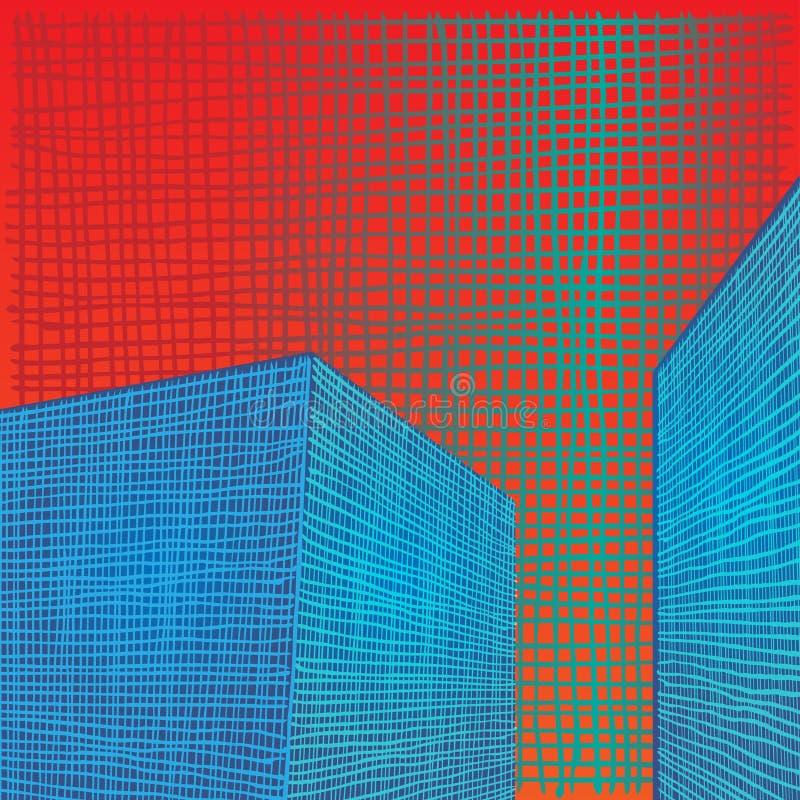 Composition en abrégé sur grille de brique illustration stock