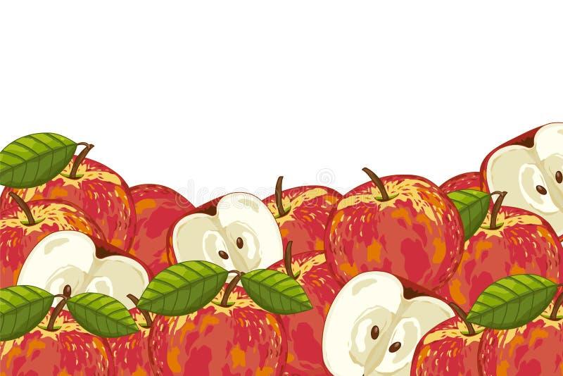 Composition en Apple d'isolement illustration stock