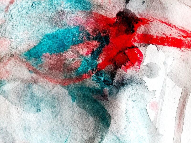Composition en aquarelle de couleur photos stock