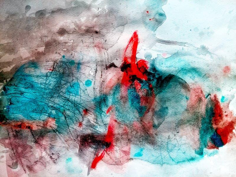 Composition en aquarelle de couleur images stock