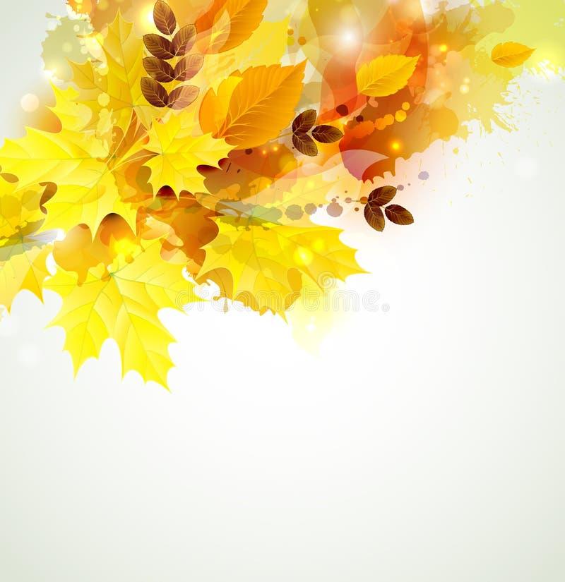 Composition en couleur d'automne illustration libre de droits