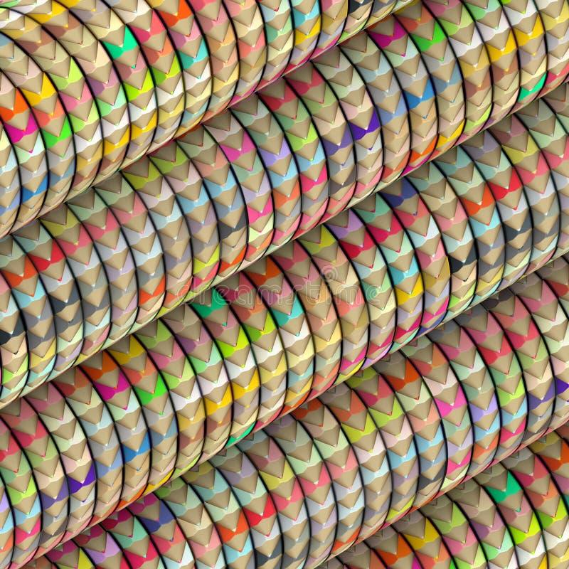 Composition en crayon de couleur sur la forme de vague de petit pain photos libres de droits