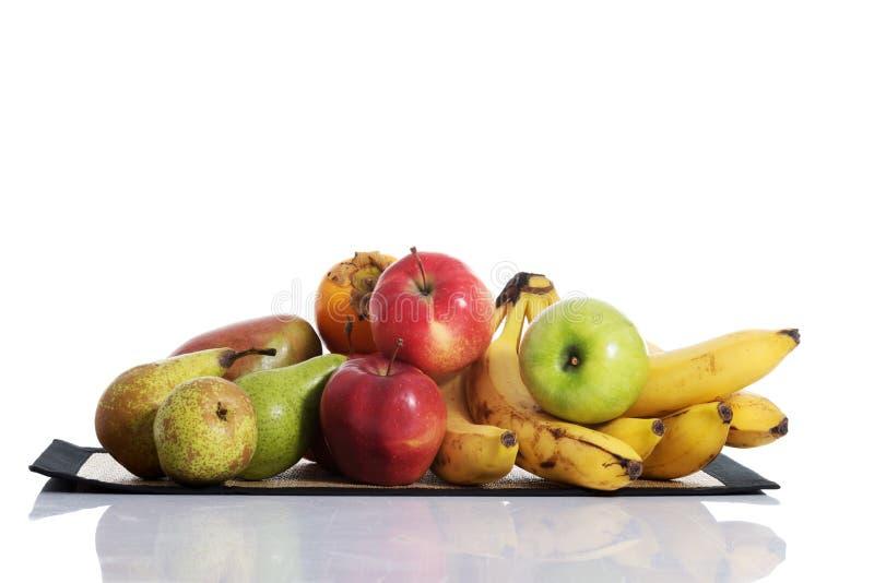 Composition en fruit au-dessus de blanc. image libre de droits