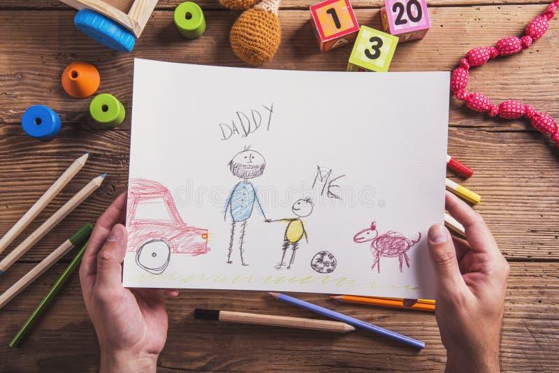 Composition en jour de pères image stock