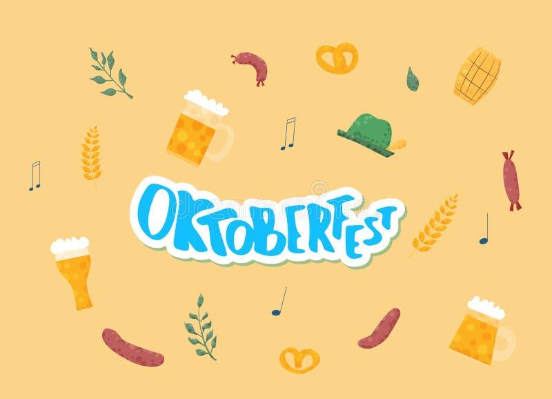 Composition en lettrage d'Oktoberfest Illustration de vecteur illustration de vecteur