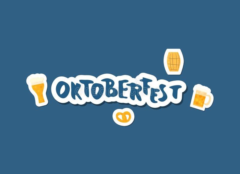 Composition en lettrage d'Oktoberfest Illustration de vecteur illustration stock