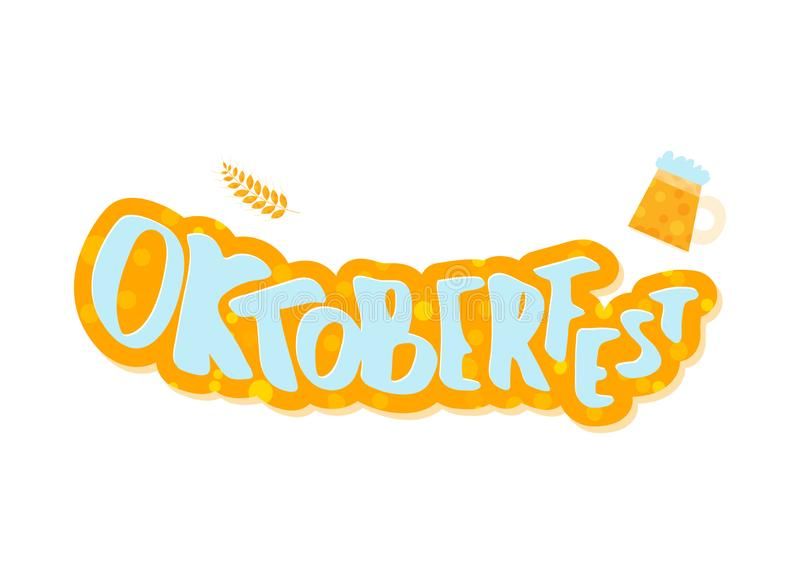 Composition en lettrage d'Oktoberfest Illustration de vecteur illustration libre de droits