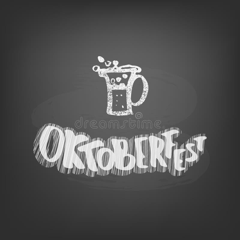 Composition en lettrage de craie d'Oktoberfest Illustration de vecteur illustration libre de droits