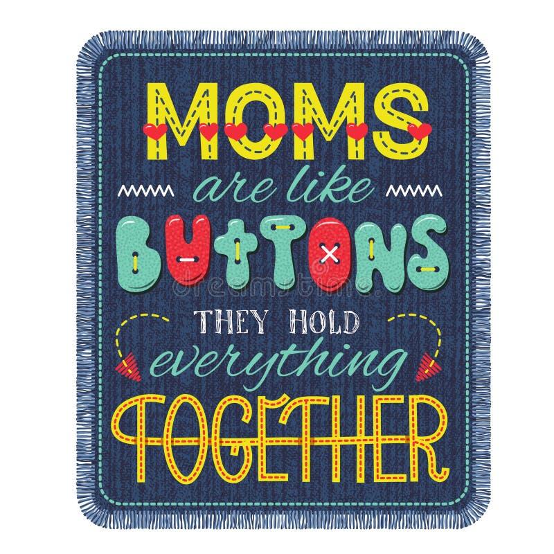 Composition en lettrage de jour de mères illustration libre de droits