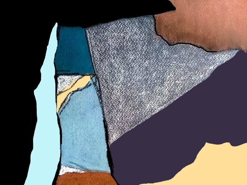 Composition en pastel abstraite images stock