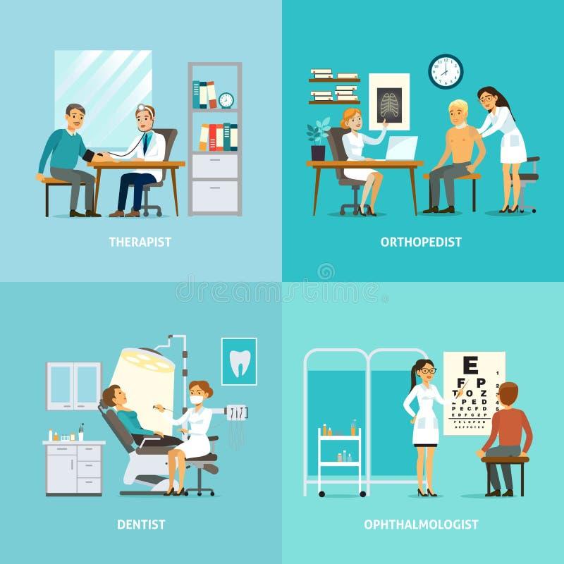 Composition en place de traitement médical illustration de vecteur