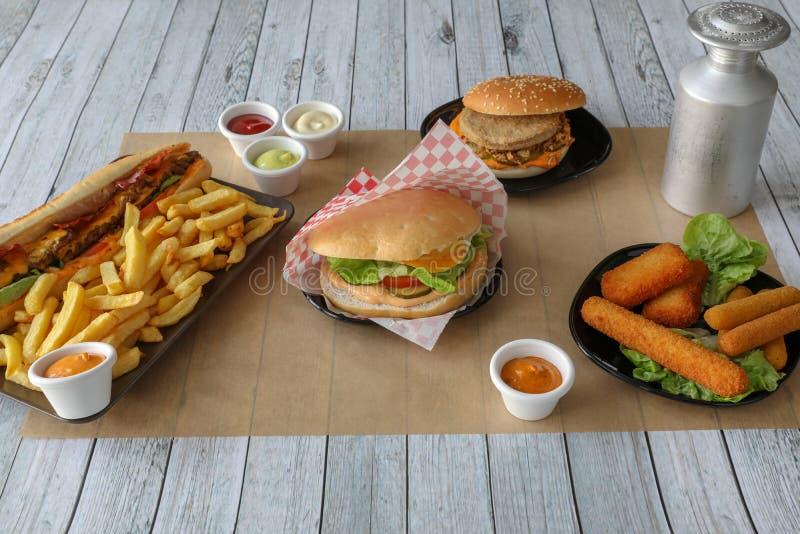Composition en repas de prêt-à-manger photo stock
