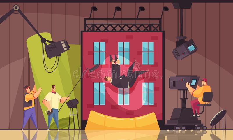 Composition en scène de cinéma de film illustration de vecteur